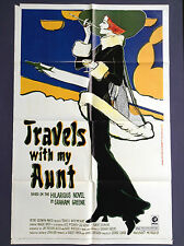 TRAVELS WITH MY AUNT (Good) Movie Poster 1972 One Sheet 1SH Maggie Smith 2163