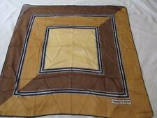 DANIEL LA FORET Cotton Geometric Nautical ROPE SCARF Square Navy White Brown