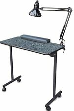 PORTABLE MANICURE NAIL TABLE 310DLX GRANITE LAM. TOP  *DISCONTINUED COLOR SALE*