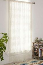 Urban Outfitters Plum & Bow Pieced Crochet Window Panel Ivory - new