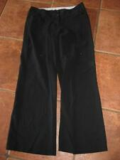 Ladies NEW LOOK black straight leg classic low rise smart work trousers 8 VGC