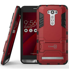 "For Asus Zenfone 2 Laser 6.0"" Case Red Hard Hybrid Dual Layer Slim Phone Cover"