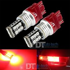 2X 3157 60W Bright 3535 Chip High Power Red LED Brake Stop Tail Light Bulbs