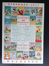 RARE Publicité catalogue Etrennes 1937 Hachette Tarzan Mickey