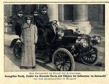 Tochter Generals Booth u.Offiziere der Heilsarmee im Automobil in Neuyork...1908