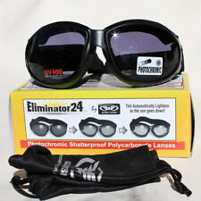 Biker Chopper Motorrad Sport Brille Sonnenbrille Photochromic Selbsttönend NEU