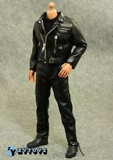 ZY TOYS 1/6 Black Leather Jacket & Pants Set For DX10 T800 Terminator NEW