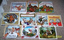 Lot of 10 Favorite Picture Books by Jan Brett  Teacher Resources HC & SC