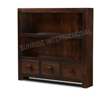 Shelves - Contemporary wooden bookcase book rack (3 drawers) (Walnut Shade) !