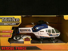 Tonka Rescue Force Lights and Sounds Police Helicopter Aerial Unit - NEW