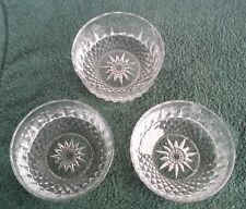 Set of 3 Arcoroc France clear glass fruit desert candy bowls dishes Star Pattern