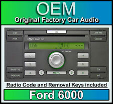 Ford 6000 CD PLAYER, Ford Fiesta automobile unità di testa stereo con radio Removal KEYS
