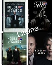 House of Cards: Complete Seasons 1-4 (1,2,3,4) Brand New - FREE SHIPPING