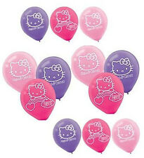 (12) Hello Kitty Rainbow Latex Balloons Birthday Party Supplies Decorations 12""