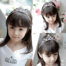 Diamante Rhinestone Heart Crown Tiara Headband Kid Girl Bridal Princess Party