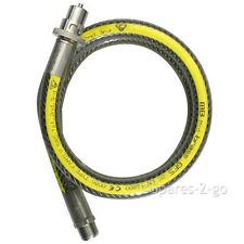 UNIVERSAL Oven Cooker Gas Supply Pipe Hose Bayonet Straight Connector 3ft x 1/2""