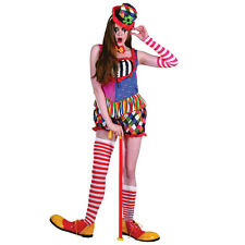 RAINBOW CLOWN #FEMALE COSTUME MULTI COLOURED FANCY DRESS HALLOWEEN
