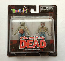 THE WALKING DEAD Series One Minimates BNIB Guts Zombie And Burned Zombie