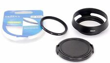 LEICA Summilux 1.4/50 fit Green L 43mm UV Filter + E43 Lens Hood + 52mm Lens Cap
