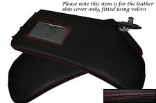 RED STITCH FITS HONDA CRX DEL SOL 1992-1997 2X SUN VISORS LEATHER COVERS ONLY