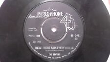 THE BEATLES 45 DPE 190 BLACK PARLOPHONE HERE THERE RARE SINGLE INDIA 27 VG-