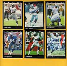 1993 Pinnacle Detroit Lions Set BARRY SANDERS RODNEY PEETE JASON HANSON L BROWN