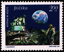 Polska Poland 1969 Fi 1793 Mi 1940 MNH Pierwsze lądowanie na Księżycu