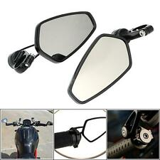 "Universal Motorcycle 7/8"" Handle Bar End Rearview Side Mirrors CNC Aluminum T9A1"