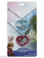Disney Frozen Elsa and Anna BFF Necklace Shaker Heart Pendant Best Friends NWT