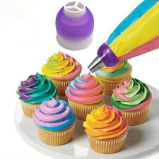 Icing Piping Bag Nozzle Converter Tri-color Cream Coupler Cake Decor Tools EW