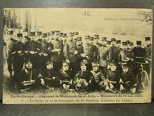 cpa belgique regiment de molenbeek saint jean manoeuvre 14 mai 1905 militaire