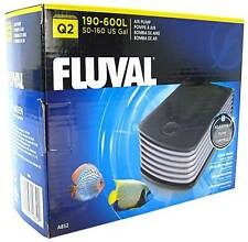 Fluval Q2 Aquarium Air Pump Powerful Noise Suppressing Baffle Chamber Fish Tank