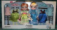Disney LE Frozen Animators' Collection Deluxe Doll Gift Set Anna and Elsa NEW!