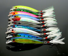 ★ Lote 10 Minnow 90mm 7.2g señuelos de pesca tipo rapala hard fishing lures ★