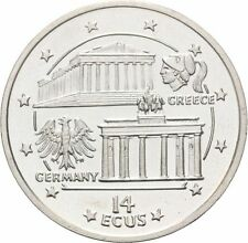1994 Gibraltar Silver Proof 14 Ecu Parthenon/Brandenburg Gate