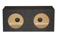 """10"""" Sealed 3/4"""" MDF Dual Sub Boxes Med. Air Volume!"""