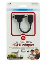 GE mini HDMI / micro HDMI to HDMI Adapter 26448 Phone Tablet Camera HDTV Connect