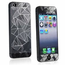 3D Front & Back Diamond Anti Glare Screen Protectors for Apple iPhone 5 5S SE