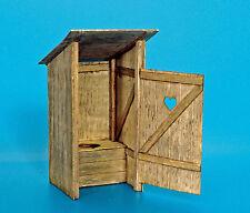Plus Modello Wooden Toilette Legno Toilette WC Gabinetto da giardino Diorama 1:3