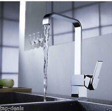 Modern Square Victoria Chrome Kitchen Sink / Bathroom Basin Mixer Tap (L11-D)
