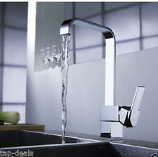Modern Square Victoria Chrome Kitchen Sink / Bathroom Basin Mixer Tap - (L11)