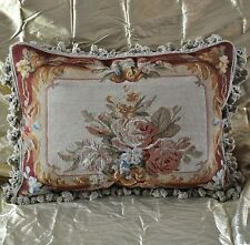 """18""""x24"""" Handmade Gobelin Tapestry Weave Wool Aubusson Pillow Case Cushion Cover"""