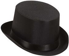 Schwarzer Zylinder-Hut aus Satin NEU - Karneval Fasching Hut Mütze Kopfbedeckung