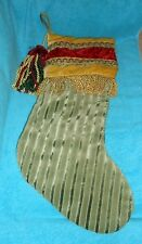 """Vintage Look Christmas Holiday 21"""" Stocking with Tassle - Very Good Condition"""
