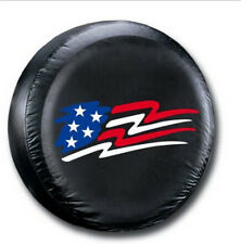 "15"" American Flag Spare Wheel Tire Covers Fit For All Car Imitation leather"