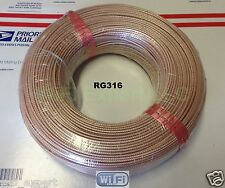 200 Meters RF Coax Coaxial Connector Adapter RG316 BARE cable NO CONNECTORS USA