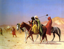 Old Masters reprint (v1f43) Arabs Crossing the Desert 1870 by Jean Leon Gerome