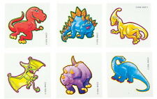 72 DINOSAUR TEMPORARY TATTOOS, PARTY FAVOR, VENDING, EACH WITH INSTRUCTIONS