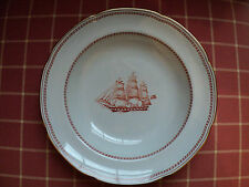 Lot of 10 Spode Trade Winds RED Large rimmed soup bowls ships sailing RARE!