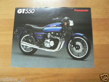 K069 KAWASAKI  BROCHURE PROSPEKT FOLDER GT550 ENGLISH 2 PAGES